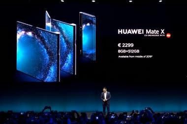 Las características del smartphone plegable Huawei Mate X, anunciado durante el MWC 2019