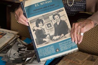 Más de uno recuerda a María Adela Baldi de las tardes frente a la tele