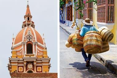 Un emblema de Cartagena: La cúpula de la catedral de Santa Catalina de Alejandría. Su belleza colonial se destaca en medio del centro histórico revitalizado y fantásticamente restaurado de una una ciudad que conoce sus tesoros y los cuida