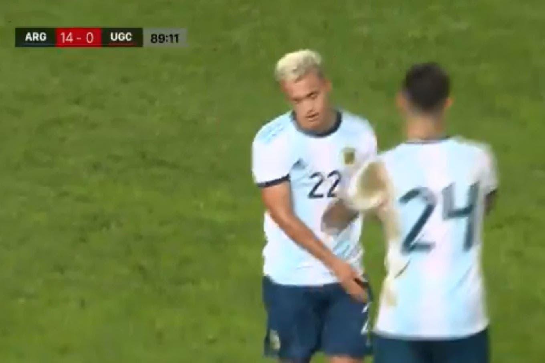 Lluvia de goles del seleccionado Sub 23: 14 a 0 a United Gran Canaria