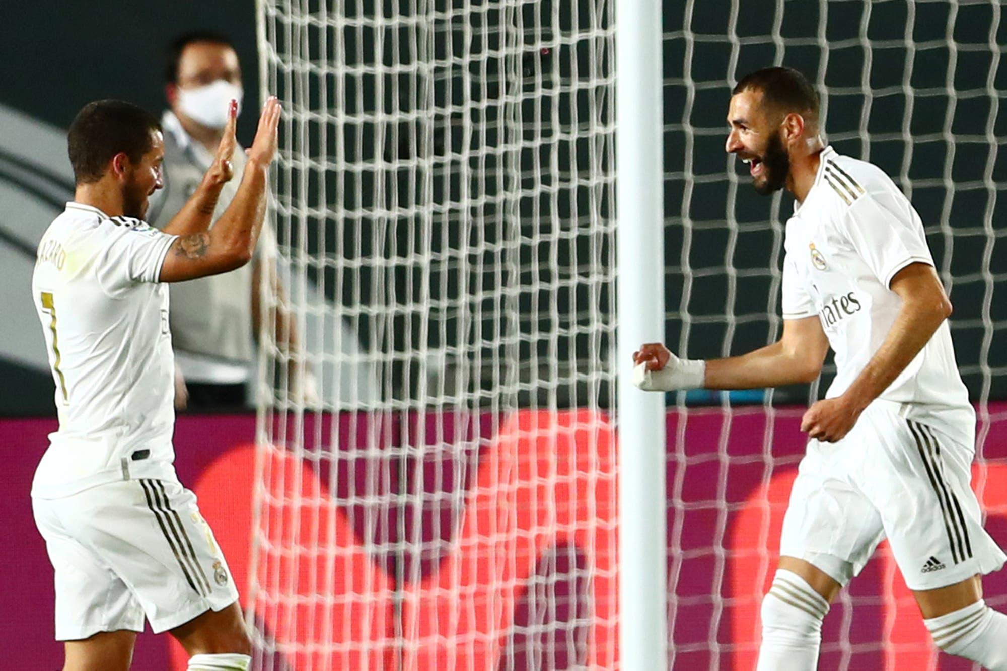 Real Madrid-Valencia, por la Liga de España: los de Zidane ganaron 3-0 con el brillo de Benzema y siguen de cerca a Barcelona