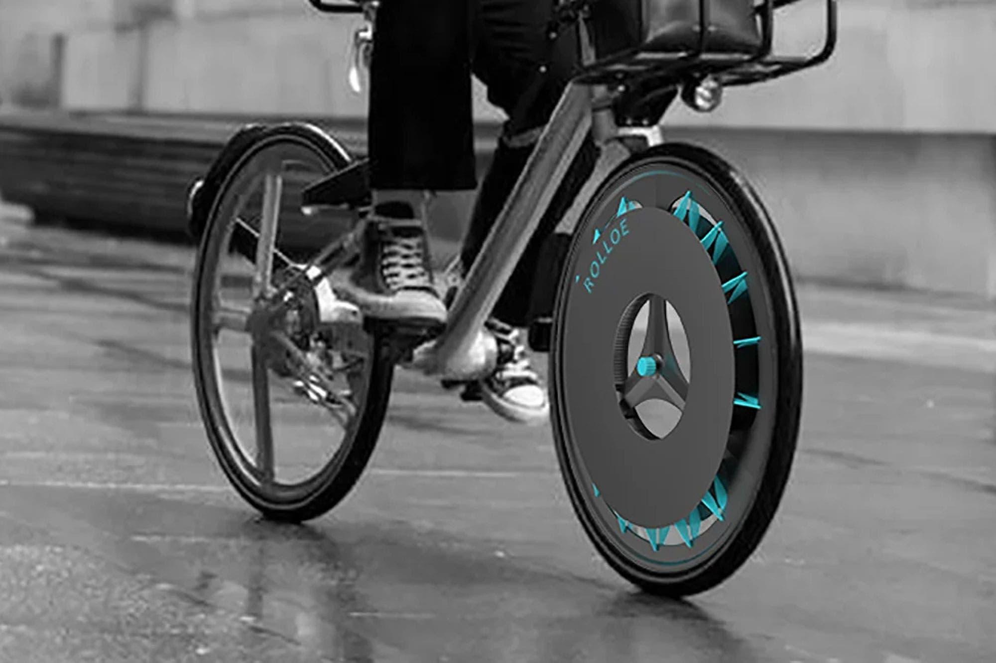 Crean una rueda para bicicleta con filtros que purifican el aire contaminado de las ciudades
