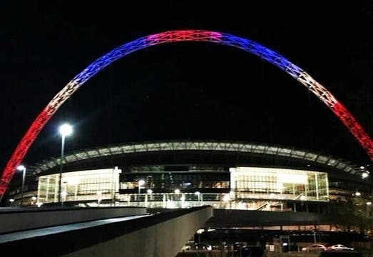 El Estadio Wembley en Londres. Foto: @Juezcentral