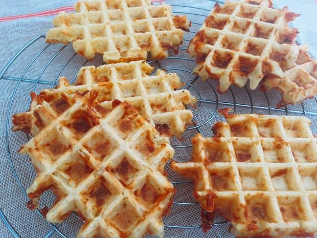 Receta de Waffle de queso