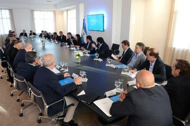 Macri encabezó hoy la reunión de gabinete en Olivos