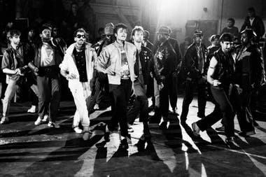 Jackson en el set de Beat It