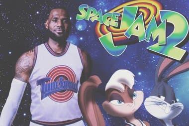 LeBron James, Bugs Bunny y Lola Bunny los protagonistas de Space Jam 2