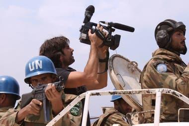 Zin rodeado por los Cascos Azules de las Naciones Unidas en Siria