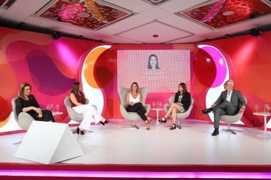 Paula Curtale (Bayer), Myriam Álvarez Iturre (Telefónica Movistar), Carla Quiroga (LA NACION), Elena Cafaldo (Banco Ciudad) y Miguel Ferrero (Corteva)