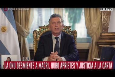 """El balance de gestión de Macri fue """"comentado"""" por la señal de cable C5N"""