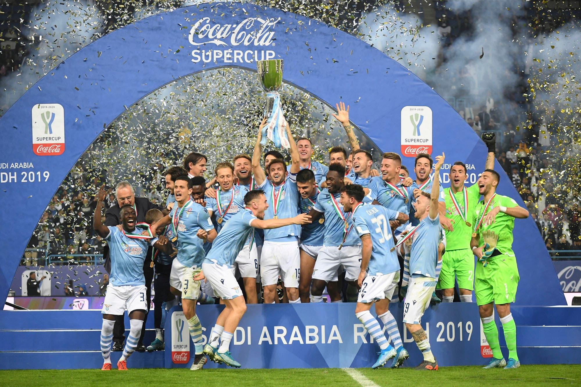 Lazio, con Joaquín Correa como titular, sorprendió a la poderosa Juventus y se quedó con la Supercopa de Italia