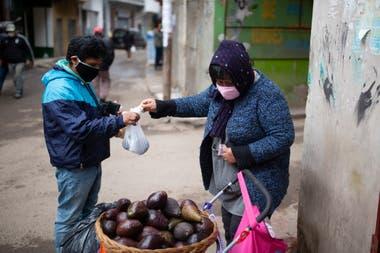 Ana vende paltas en la manzana 13