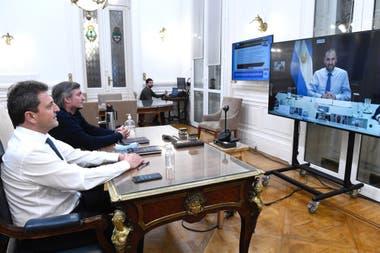 El ministro Guzmán dialogó hoy con diputados del Frente de Todos