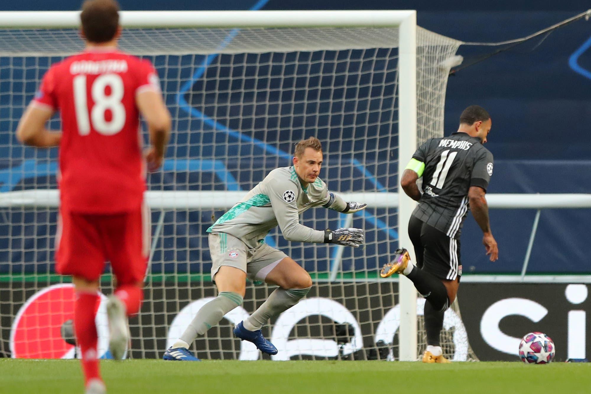 Bayern Munich-Lyon: las dos increíbles ocasiones que desperdició el equipo francés con el partido 0-0 en la semifinal de la Champions League
