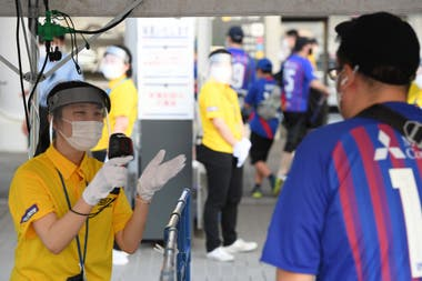 Así se controla la entrada del público a los estadios en la J-League
