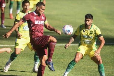 Sand anotó el gol de penal para el triunfo de Lanús 2-1 ante Defensa y Justicia