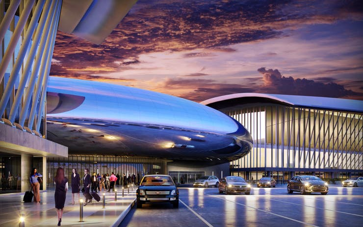La fachada de la terminal que proyectan hacia 2021