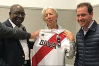 Christine Lagarde, nueva fan de River Plate