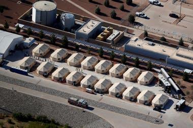 Los campos de refugio en la frontera