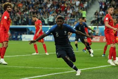 Umtiti: solidez en la zaga y gol triunfal contra Bélgica
