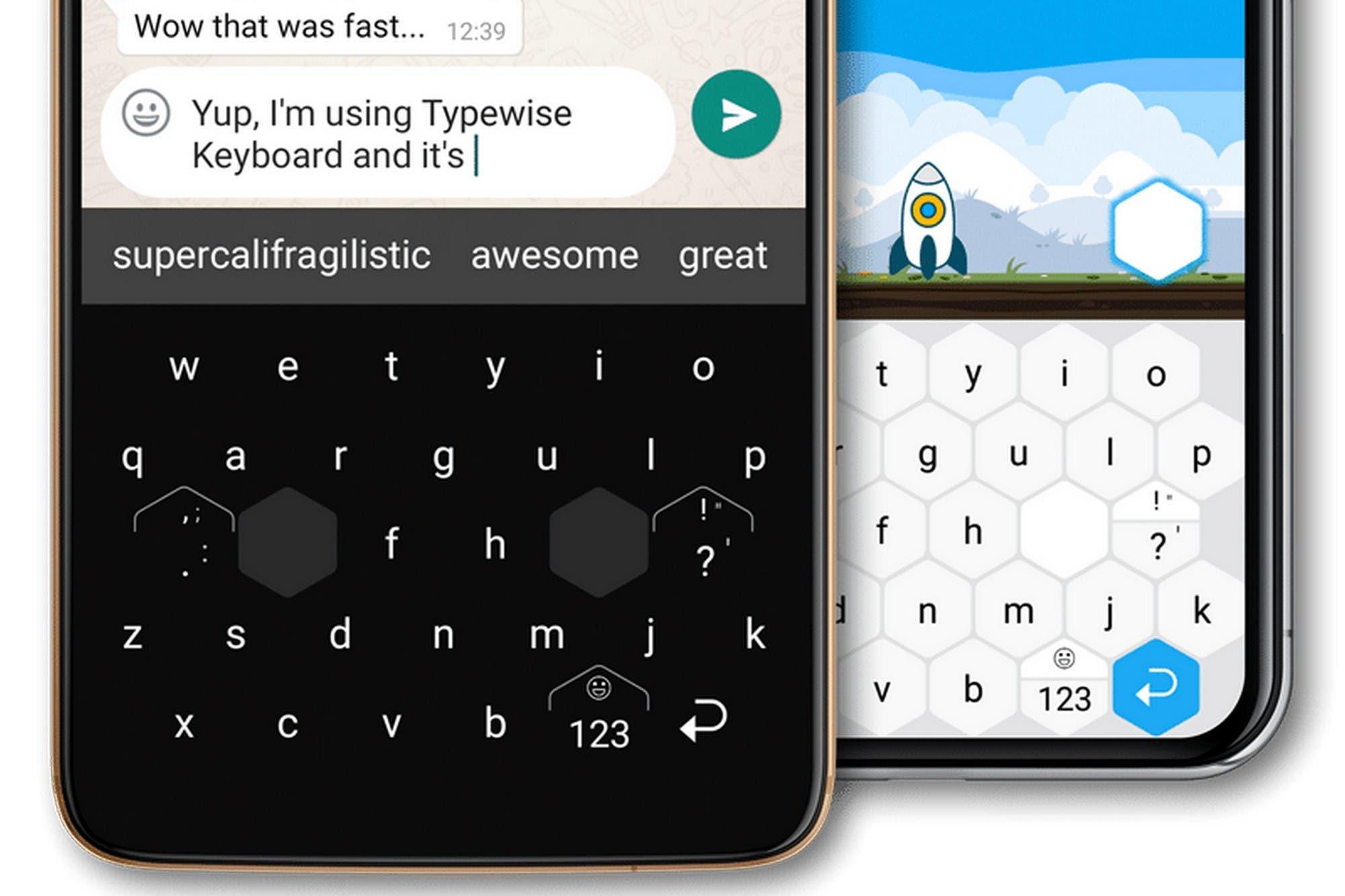 Typewise: el curioso teclado con diseño hexagonal para Android que promete reducir tus errores de tipeo