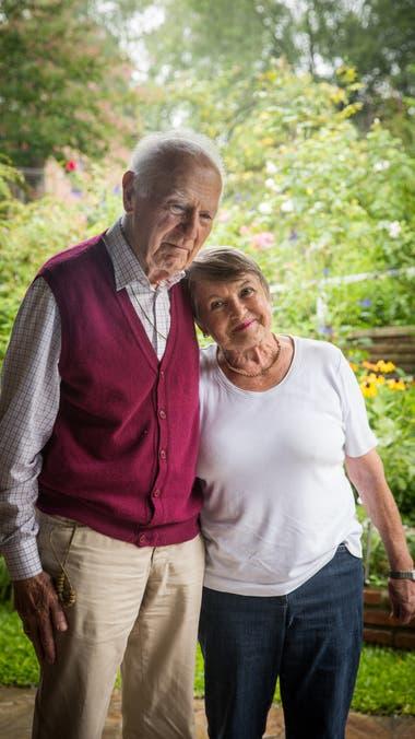 Peter Zimmermann con 94 años y Brigitte Erichsen, con 83, viven en el Hogar de la Fundación Villa Champaquí.