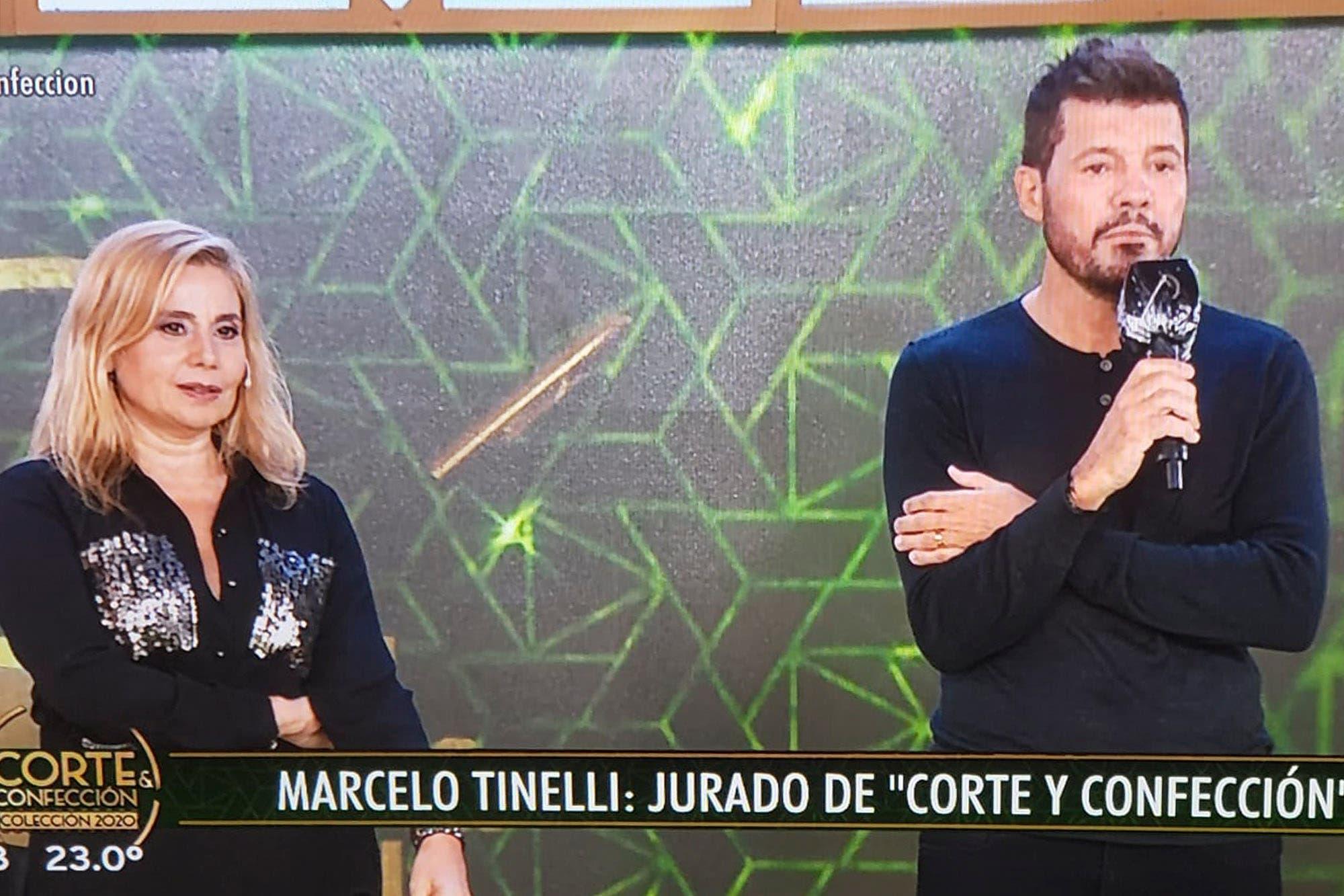 Marcelo Tinelli apareció de sorpresa en Corte y Confección y habló sobre su accidentado regreso