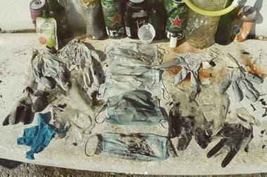 La ONG Opération Mer Propre catalogó los residuos encontrados y alertó sobre los riesgos de contaminación por la pandemia