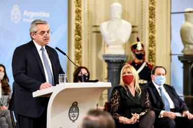 Alberto Fernández, la semana pasada, cuando anunció la reforma judicial