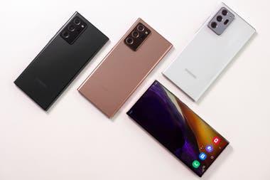 Los tres colores del Galaxy Note20 Ultra que se vende en la Argentina