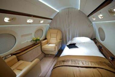 El interior del avión privado de Leo Messi. Crédito: Twitter