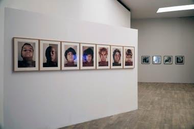 Ana Mendieta, sin título, Variaciones Cosméticas Faciales.