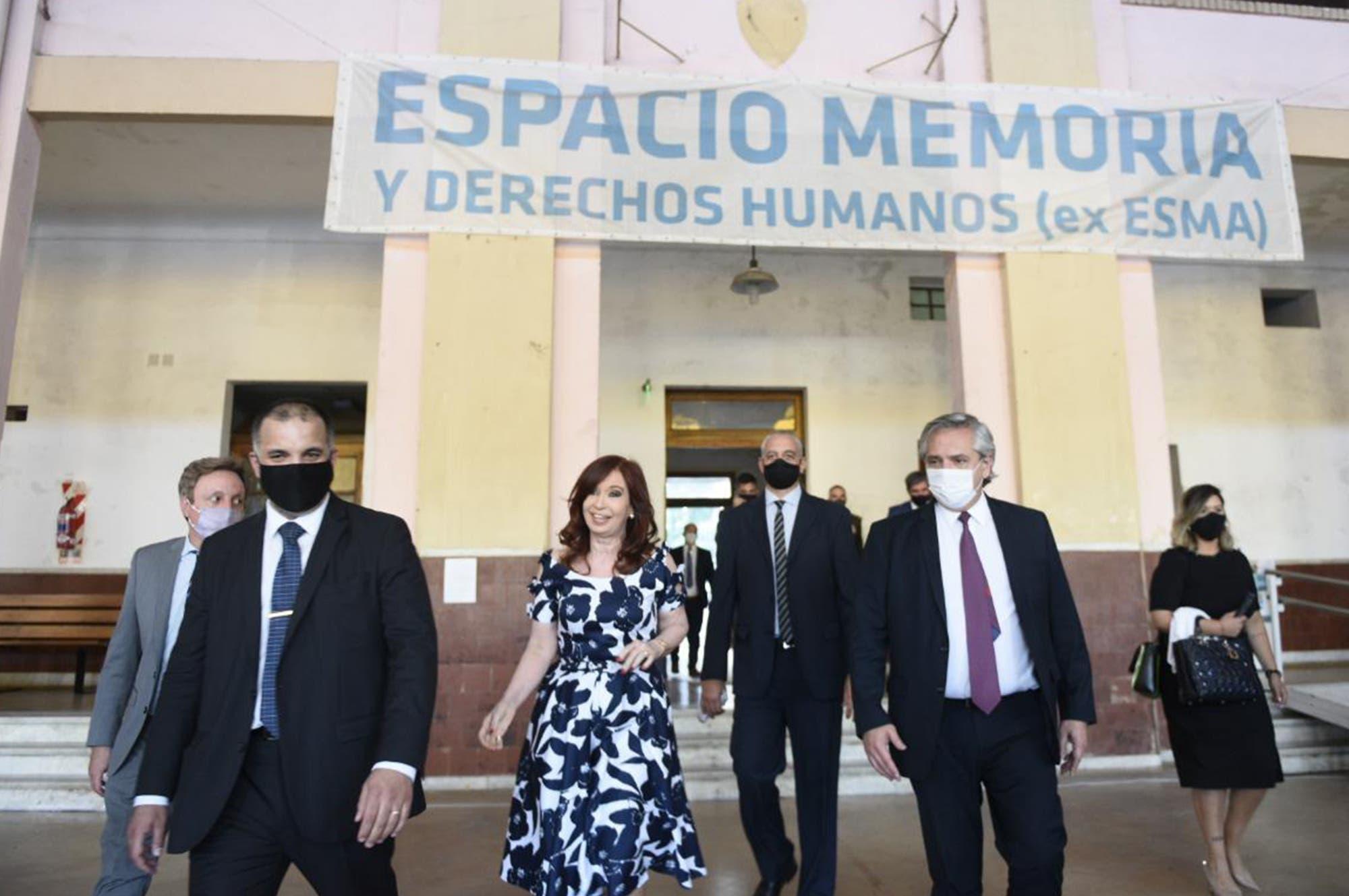 Un año de gobierno: Alberto Fernández y Cristina Kirchner comparten escenario en la exESMA