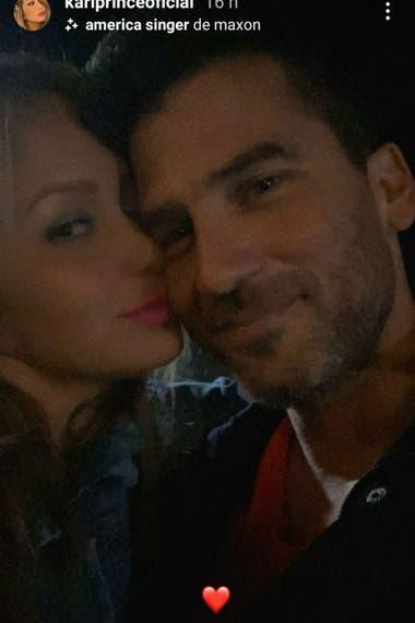 Karina La Princesita subió la primera imagen junto a su novio, Nico Furman