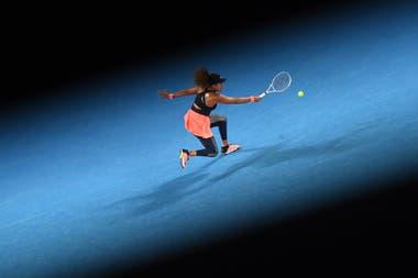 Naomi Osaka, en acción en la final