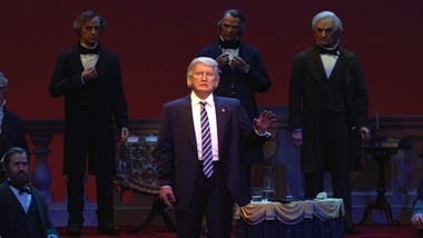 La figura de Trump, en una atracción emblemática de Magic Kingdom