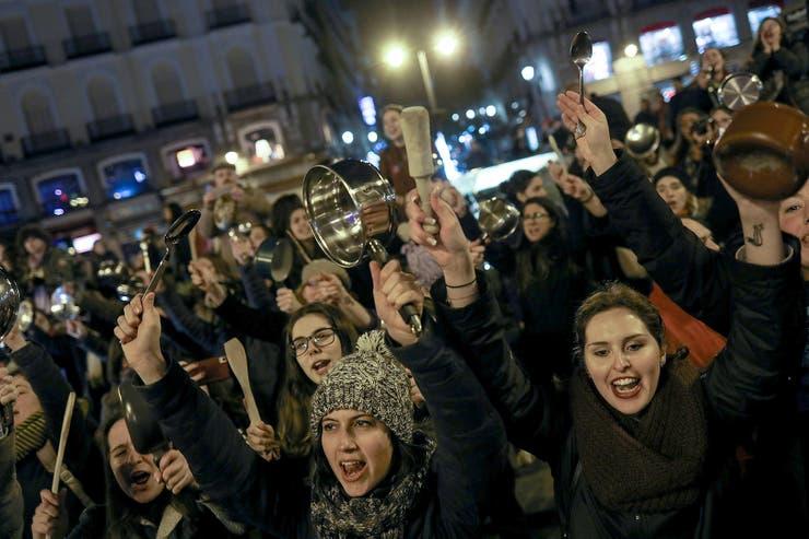 Manifestación en La Puerta del Sol, Madrid