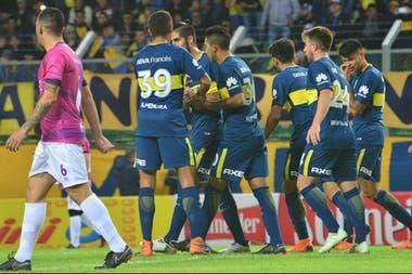 Sin problemas: Boca celebró otra victoria en San Luis