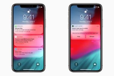 iOS 12 ahora sugerirá desactivar las notificaciones de una aplicación si no se suelen mirar; y agrupará las notificaciones de una misma aplicación en un solo bloque