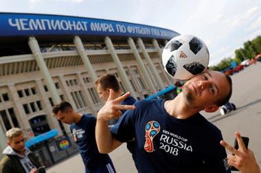 Alrededores del Estadio Olímpico Luzhnikí quealbelgará la fiesta de apertura y el partido inaugural entre Rusia y Arabia Saudita