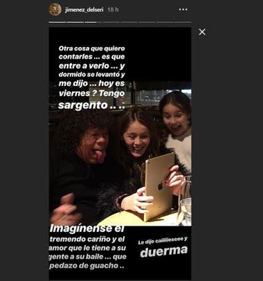 La cuenta de Instagram de la hija del cantante