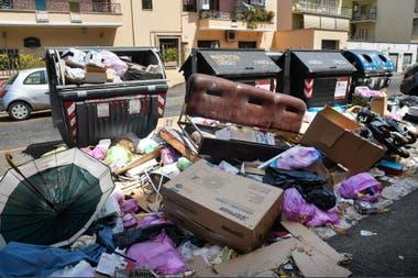 La basura en las calles de Roma