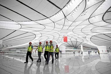 El aeropuerto fue diseñado por Zaha Hadid