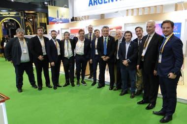 El ministro Etchevehere y empresarios argentinos en la China International Import Expo (CIIE) en Shanghái