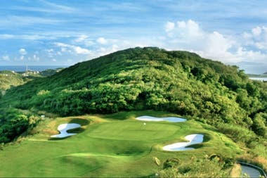 Canchas de golf en la exclusiva isla caribeña Mustique