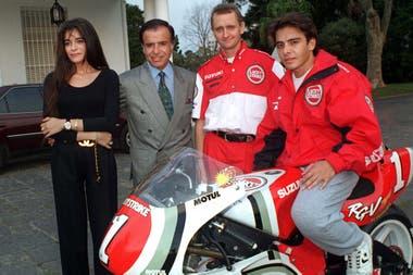 En 1989, Carlitos Menem se accidentó con su moto y tuvo lesiones de consideración