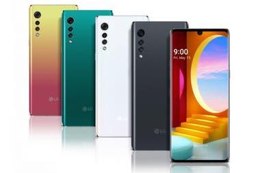 Los colores del LG Velvet que tiene una pantalla de 68 pulgadas