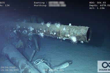 Los restos del acorazado fueron hallados a 4600 metros de profundidad, en el Océano Pacífico al sudoeste de Pearl Harbor