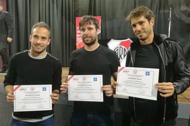 Fernando Belluschi, Fernando Cavenaghi y Martín Galmarini, después completar una diplomatura sobre dirección deportiva en River; ya en los últimos años de su carrera, muchos futbolistas empiezan a pensar en el día después