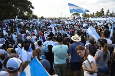 El banderazo en Avellaneda, el 20 de junio pasado, tuvo una nutrida participación